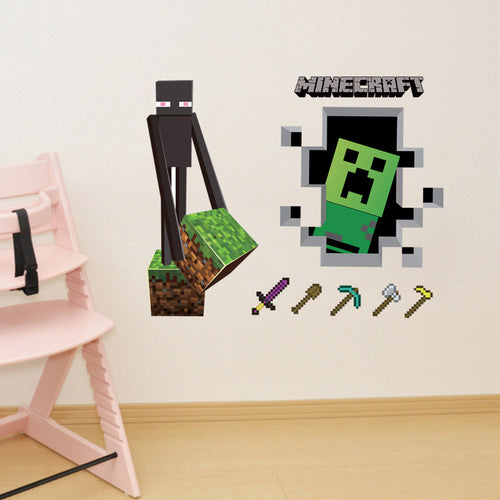 Minecraft #2 Wall Decor Peel & Bedroom Stick Poster Decals