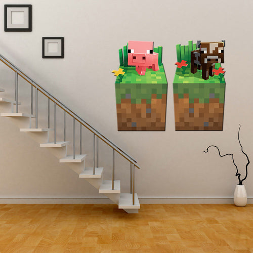 Minecraft #4 Wall Decor Peel & Bedroom Stick Poster Decals