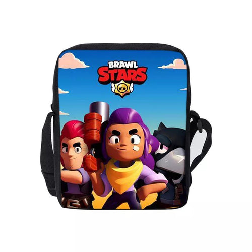 Game Brawl Stars Crow Spike Mortis Colt EL Primo  Lunch Box Bag Lunch Tote For Boy Kids