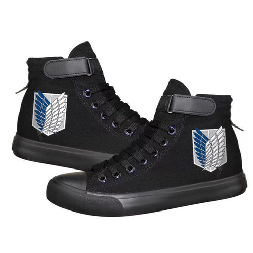 Anime Attack on Titan High Tops Casual Canvas Shoes Unisex Sneakers