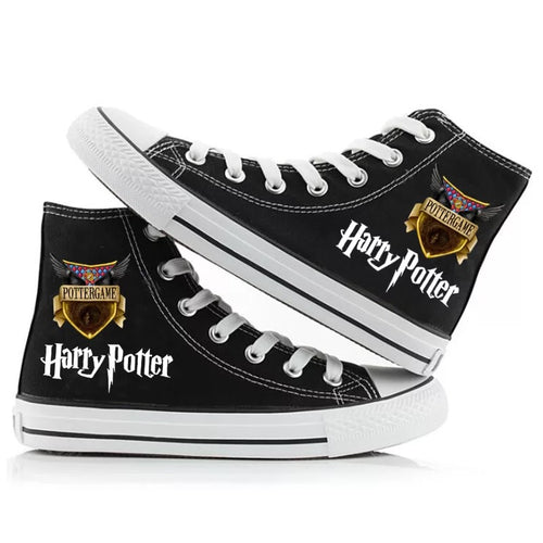 Harry Potter Cosplay Shoes High Top Canvas Sneakers For Kids