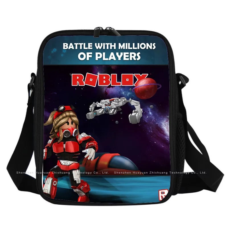 Game Roblox Insulated Lunch Bag for Boy Kids Lunch Box Tote
