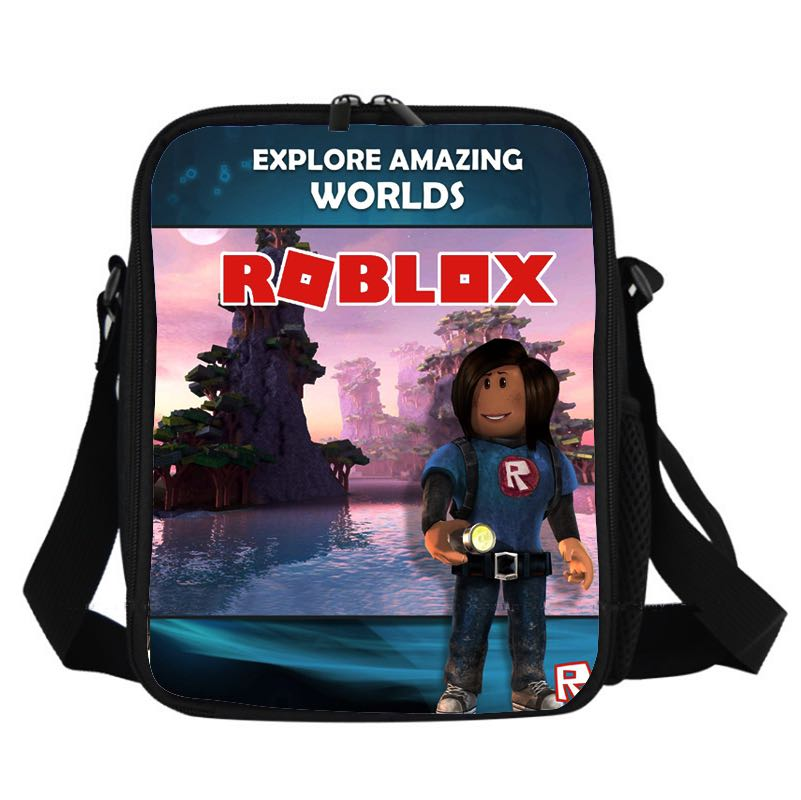 Game Roblox Insulated Lunch Bag for Boy Kids Lunch Box Tote Explore Amazing Worlds