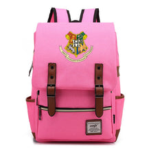 Load image into Gallery viewer, Harry Potter Hogwarts Canvas Travel Backpack Map School bag
