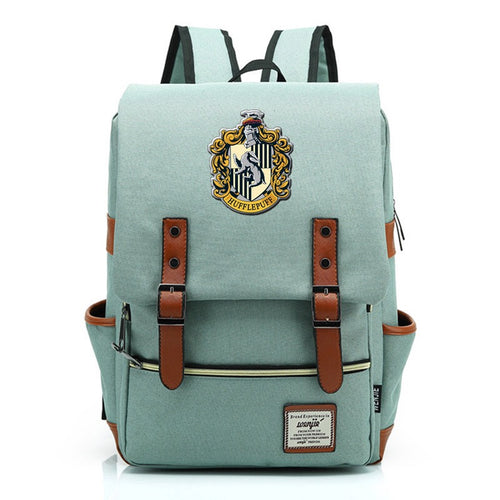 Harry Potter Hufflepuff Canvas Travel Backpack School bag