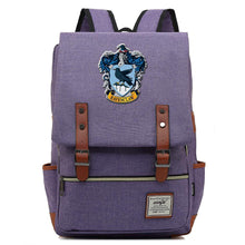 Load image into Gallery viewer, Harry Potter Ravenclaw Canvas Travel Backpack School bag