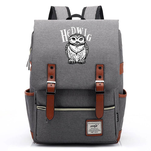 Harry Potter Hedwig Canvas Travel Backpack School bag