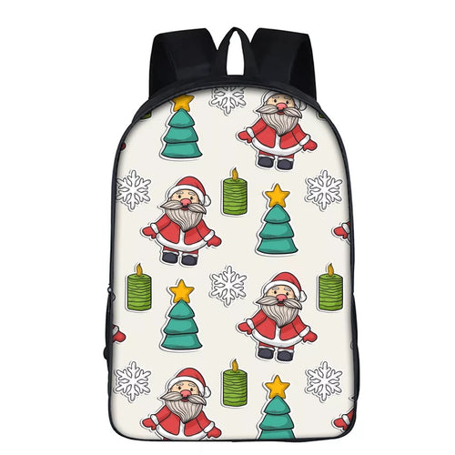 Christmas Santa Claus #23 Backpack School Supplies Satchel Casual Book Bag School Bag for Kids Boy Girls Backpack Junior Bag