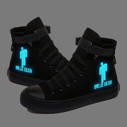 Billie Eilish #3 High Tops Casual Canvas Shoes Unisex Sneakers Luminous