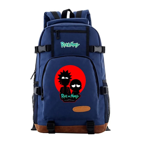 Anime Rick and Morty #2 School Bookbag Travel Backpack Bags