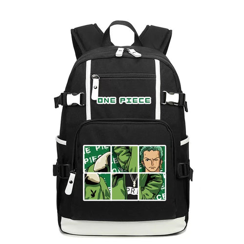 One Piece #2 USB Charging Backpack School NoteBook Laptop Travel Bags