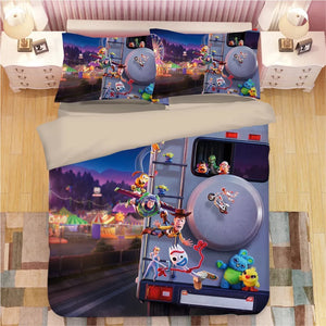 Toy Story 4 Buzz Lightyear Woody Bedding Set Duvet Cover Set Bedroom Set Bedlinen 3D Bag