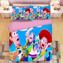 Load image into Gallery viewer, Toy Story 4 Buzz Lightyear Woody Bedding Set Duvet Cover Set Bedroom Set Bedlinen 3D Bag