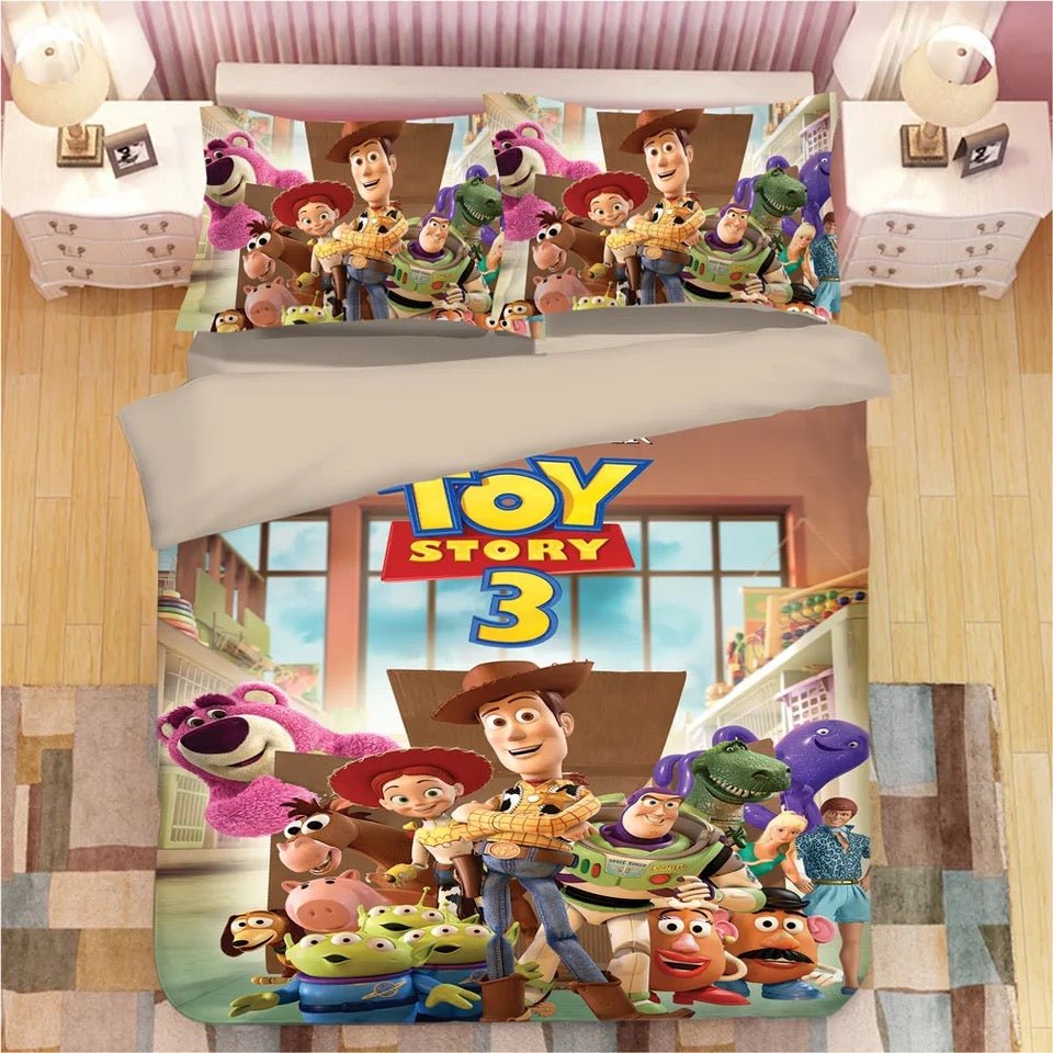 Toy Story 3 Buzz Lightyear Woody Bedding Set Duvet Cover Set Bedroom Set Bedlinen 3D Bag