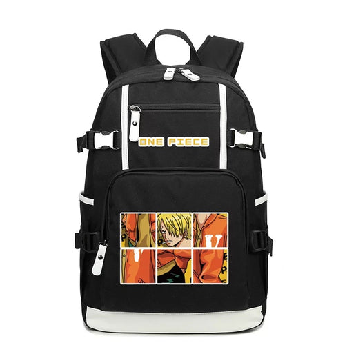 One Piece #5 USB Charging Backpack School NoteBook Laptop Travel Bags