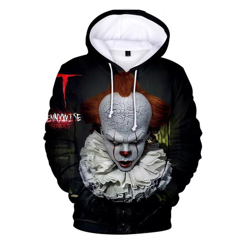 2019 Stephen King It Chapter Two 2 #1 Hoodies Men's Sweatshirts Sweater Jacket Coat