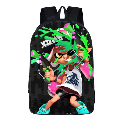 Game Splatoon Backpack School Sports Bag For Children Kids Birthday Gift