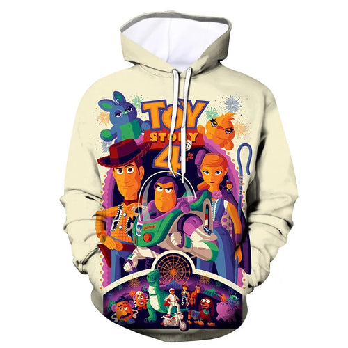 2019 Toy Story Buzz Lightyear Woody #2 Cosplay Sweater Hoodie For Kids Adults
