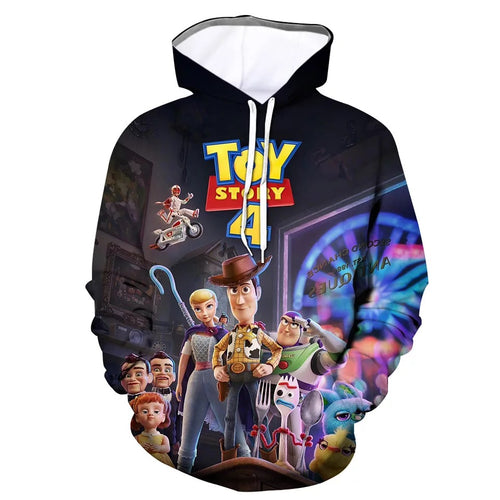 2019 Toy Story Buzz Lightyear Woody #3 Cosplay Sweater Hoodie For Kids Adults