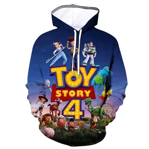 2019 Toy Story Buzz Lightyear Woody #4 Cosplay Sweater Hoodie For Kids Adults