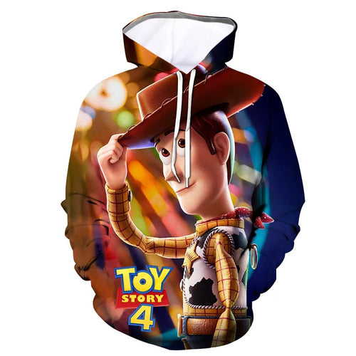 2019 Toy Story Buzz Lightyear Woody #6 Cosplay Sweater Hoodie For Kids Adults