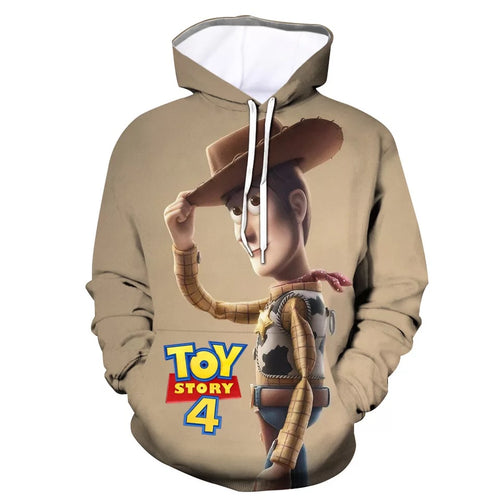 2019 Toy Story Buzz Lightyear Woody #10 Cosplay Sweater Hoodie For Kids Adults