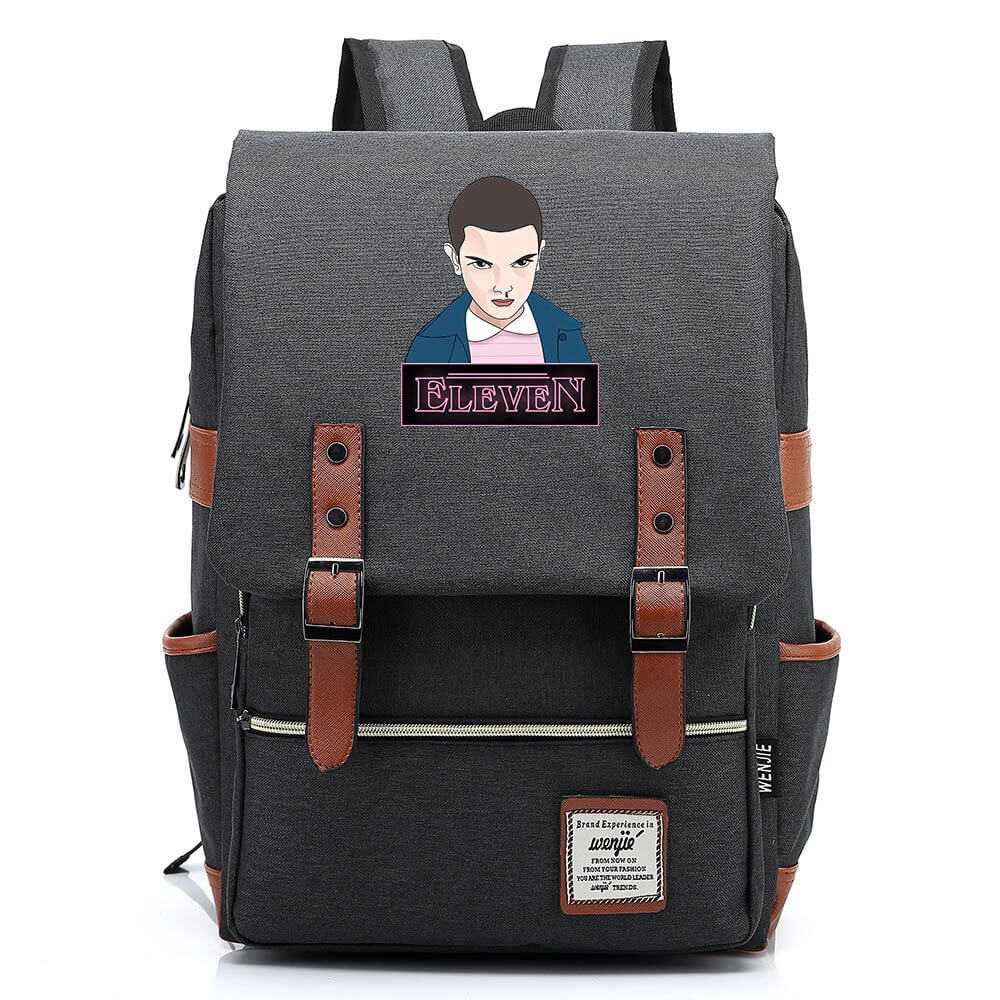 Stranger Things Eleven 11 Canvas Travel Backpack School Bag