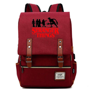 2019 Stranger Things Cosplay Canvas Travel Backpack School Bag