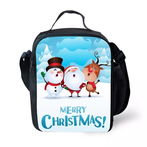 Christmas Santa Claus Elk #4 Lunch Box Bag Lunch Tote For Kids