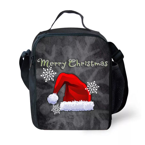 Christmas Santa Claus Elk #5 Lunch Box Bag Lunch Tote For Kids