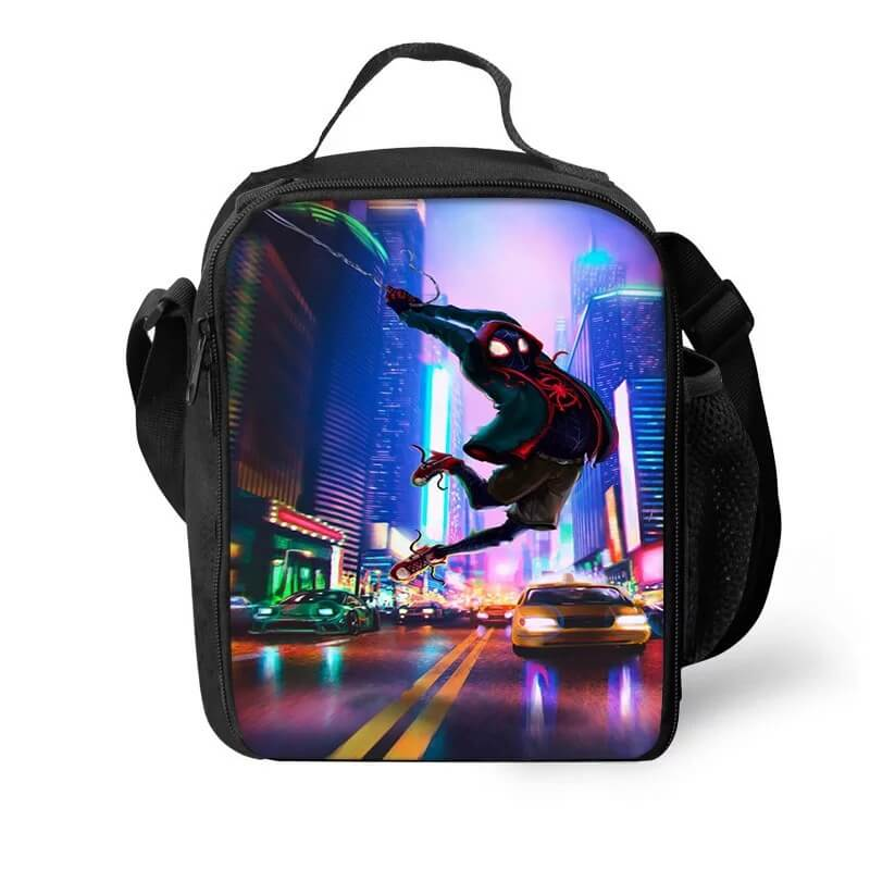 Spider Man Into the Spider-Verse Miles Morales Lunch Box Bag Lunch Tote For Kids