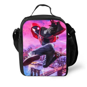 Spider Man Into the Spider-Verse Miles Morales #2 Lunch Box Bag Lunch Tote For Kids