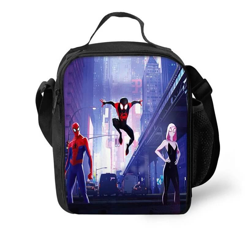 Spider Man Into the Spider-Verse Miles Morales Gwen Lunch Box Bag Lunch Tote For Kids