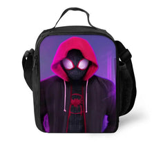 Load image into Gallery viewer, Spider Man Into the Spider-Verse Miles Morales #8 Lunch Box Bag Lunch Tote For Kids