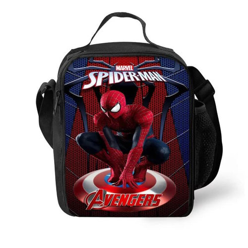 Avengers Spider Man Lunch Box Bag Lunch Tote For Kids