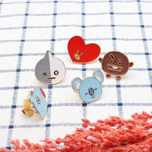 Fashion Kpop Bts Bangtan Boys BT21 Badge Brooch Chest Pin Souvenir Gift
