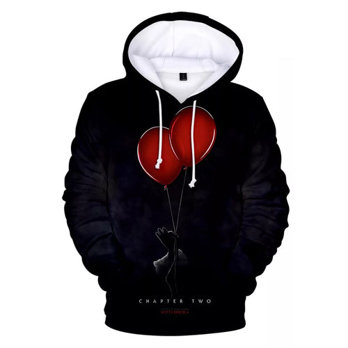 2019 Stephen King It Chapter Two 2 #6 Hoodies Men's Sweatshirts Sweater Jacket Coat