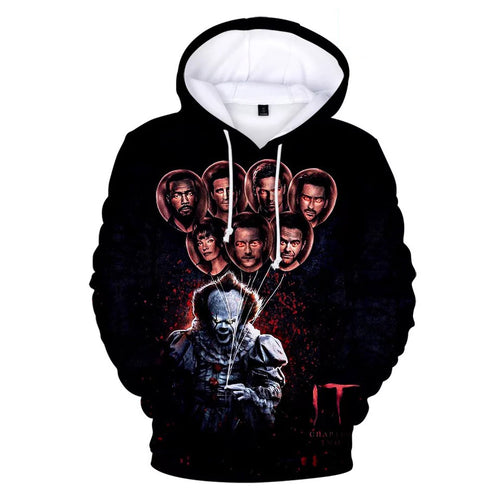 2019 Stephen King It Chapter Two 2 #8 Hoodies Men's Sweatshirts Sweater Jacket Coat