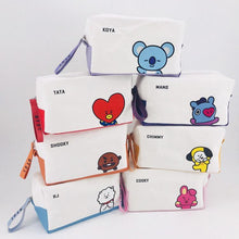 Load image into Gallery viewer, BTS BT21 TATA COOKY Canvas Pouch Storage Bag Cosmetic Bag