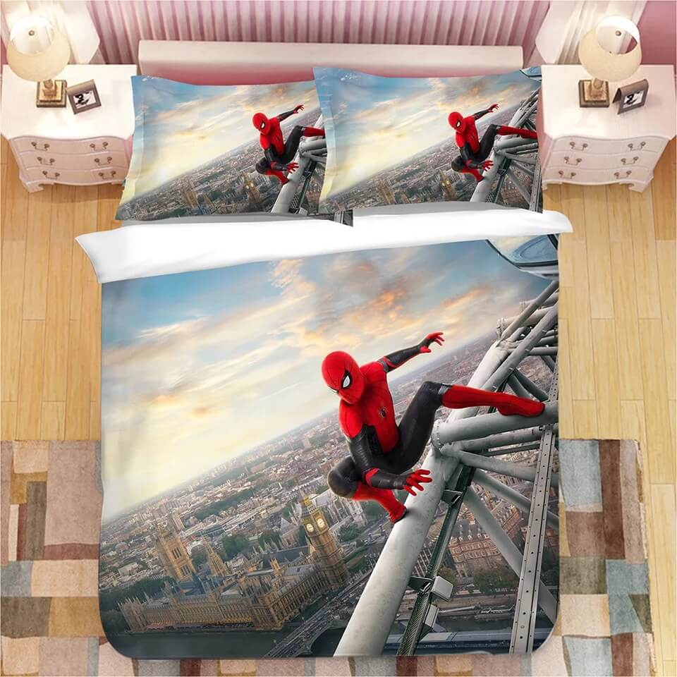 Spider-Man Far From Home Peter Parker #2 Bedding Set Duvet Cover Set Bedroom Set Bed Linen