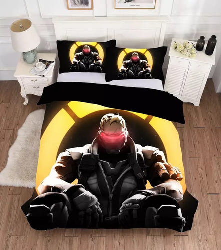 Overwatch Soldier 76 #1 Bedding Set Duvet Cover Set Bedroom Set Bedlinen 3D Bag For Kids