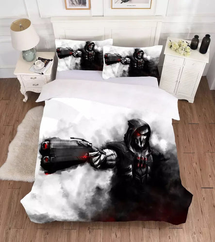 Overwatch Reaper #4 Bedding Set Duvet Cover Set Bedroom Set Bedlinen 3D Bag For Kids