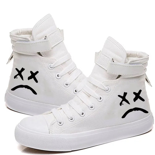 Lil Peep Hiphop #2 Cosplay Shoes High Top Canvas Sneakers