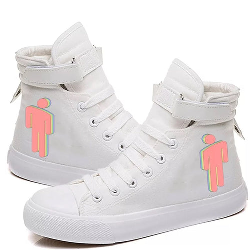 Billie Eilish Bellyache Classic Style  #5 Cosplay Shoes High Top Canvas Sneakers