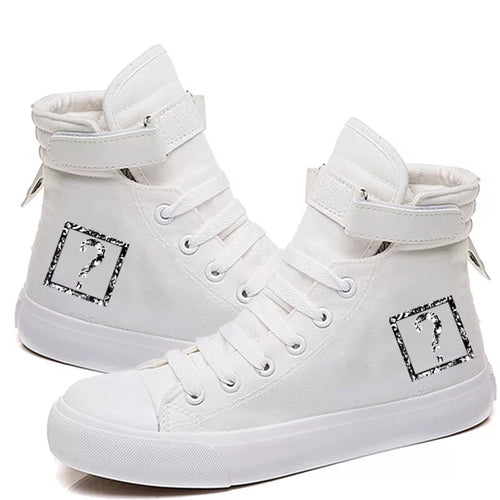 XXXTentacion Hip Hop Rock Rapper Fashion #1 High Tops Casual Canvas Shoes Unisex Sneakers