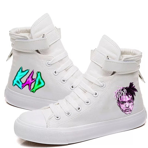 XXXTentacion Hip Hop Rock Rapper Fashion #2 High Tops Casual Canvas Shoes Unisex Sneakers