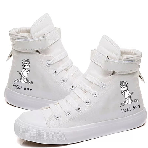 Lil Peep Hell Boy Hiphop #3 Cosplay Shoes High Top Canvas Sneakers