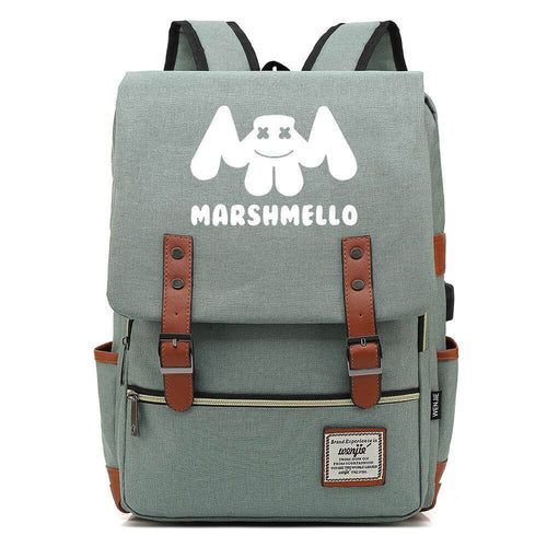 DJ Marshmello Canvas Travel Backpack School Bag