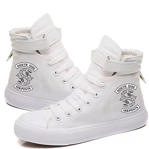 Riverdale South Side Serpents #6 High Tops Casual Canvas Shoes Unisex Sneakers
