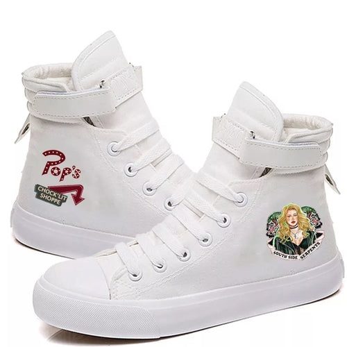 Riverdale South Side Serpents #7 High Tops Casual Canvas Shoes Unisex Sneakers